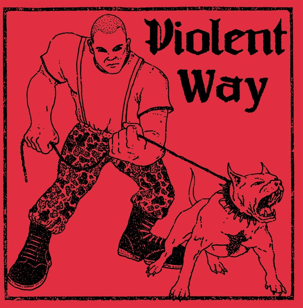 """Violent Way - s/t 7""""EP lim.200 marbled white 2nd press"""