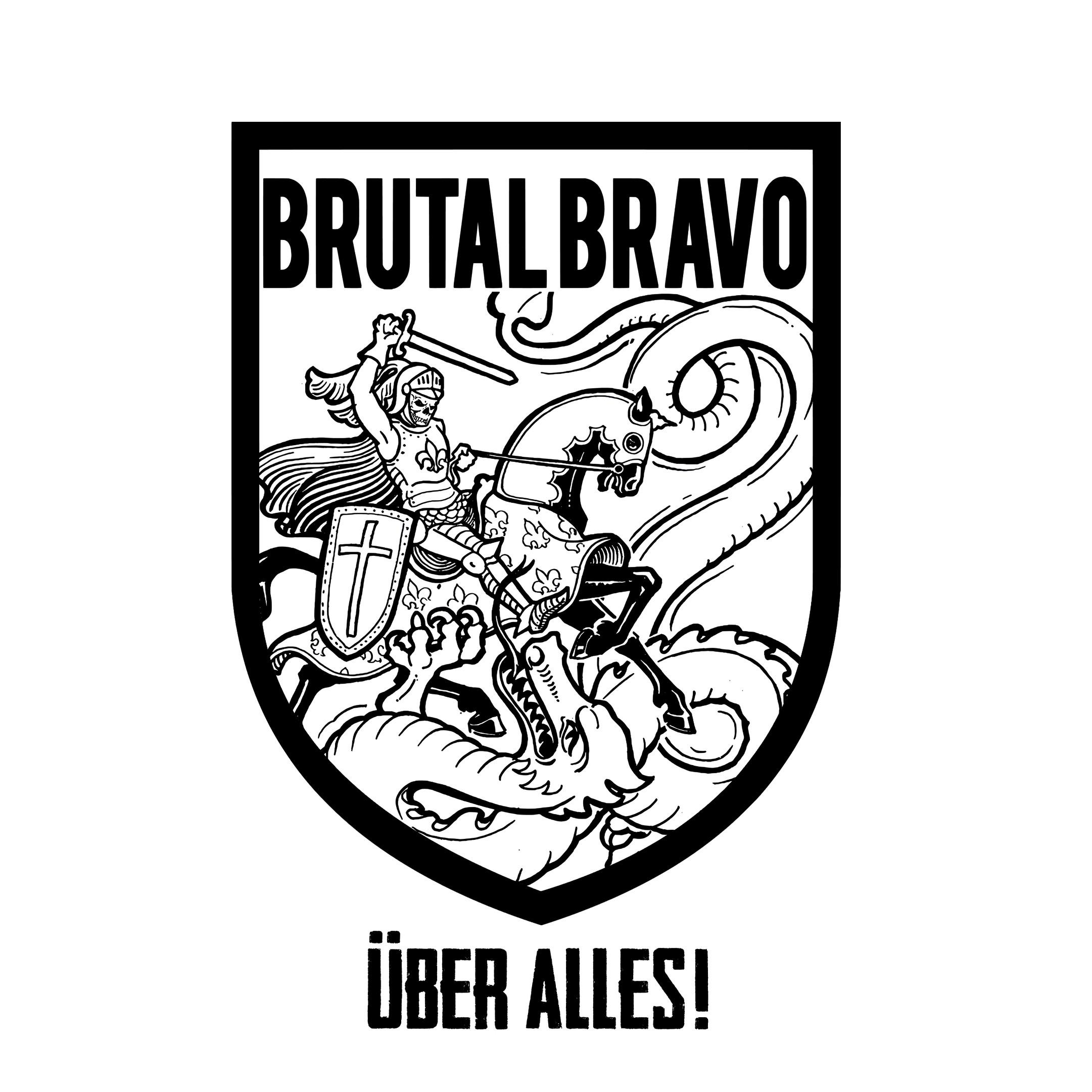 "Brutal Bravo - ""Über Alles"" - 7""EP lim.120 white Contra Records EU version"