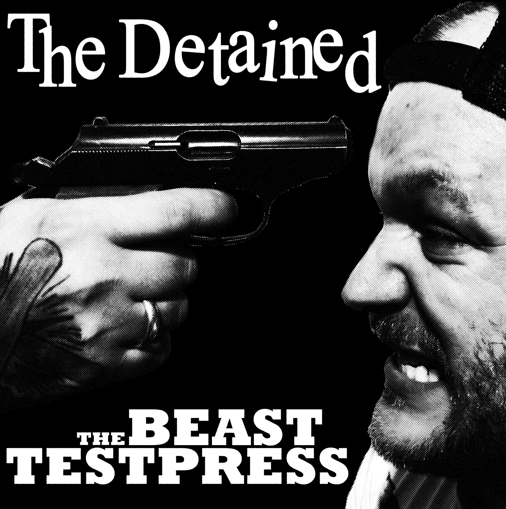 "DETAINED,THE -the beast - 12""LP Testpress lim. Screenprinted Cover"