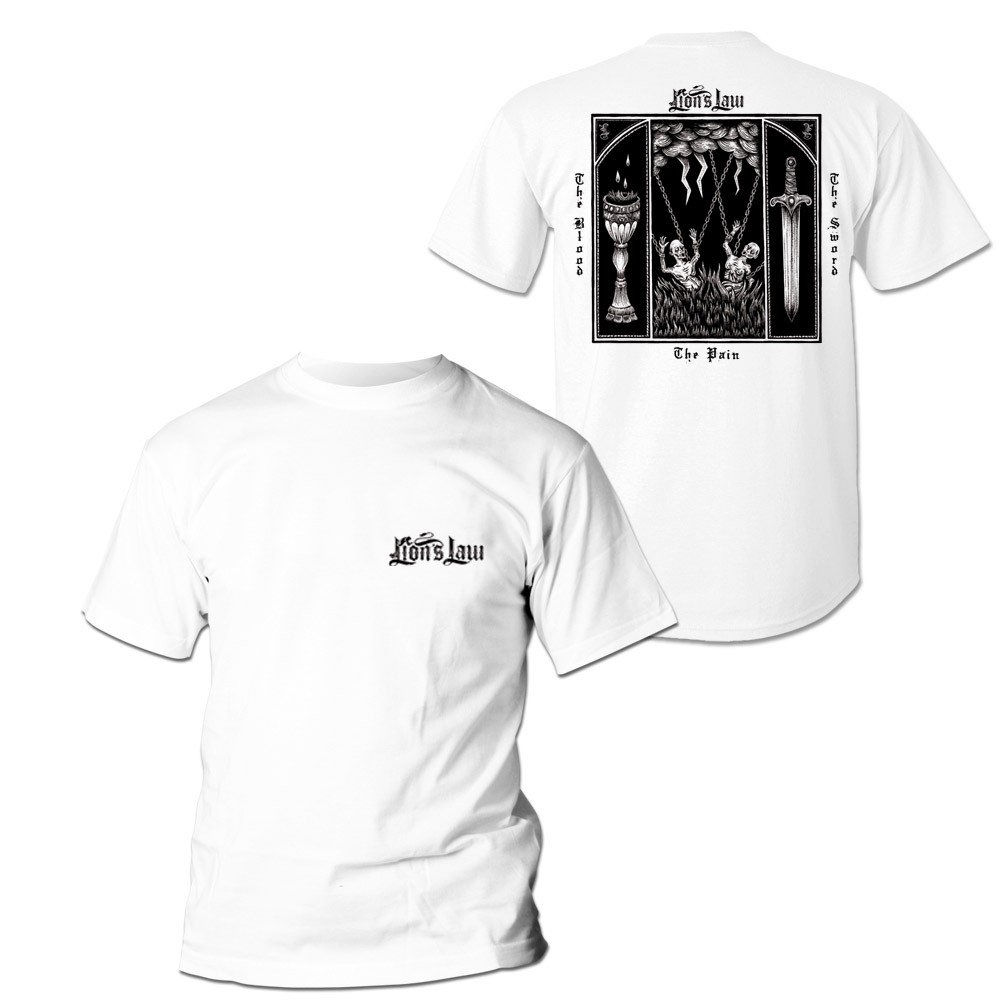 """Lion's Law - """"The Pain,The Blood.."""" The T-Shirt white front/backprint"""