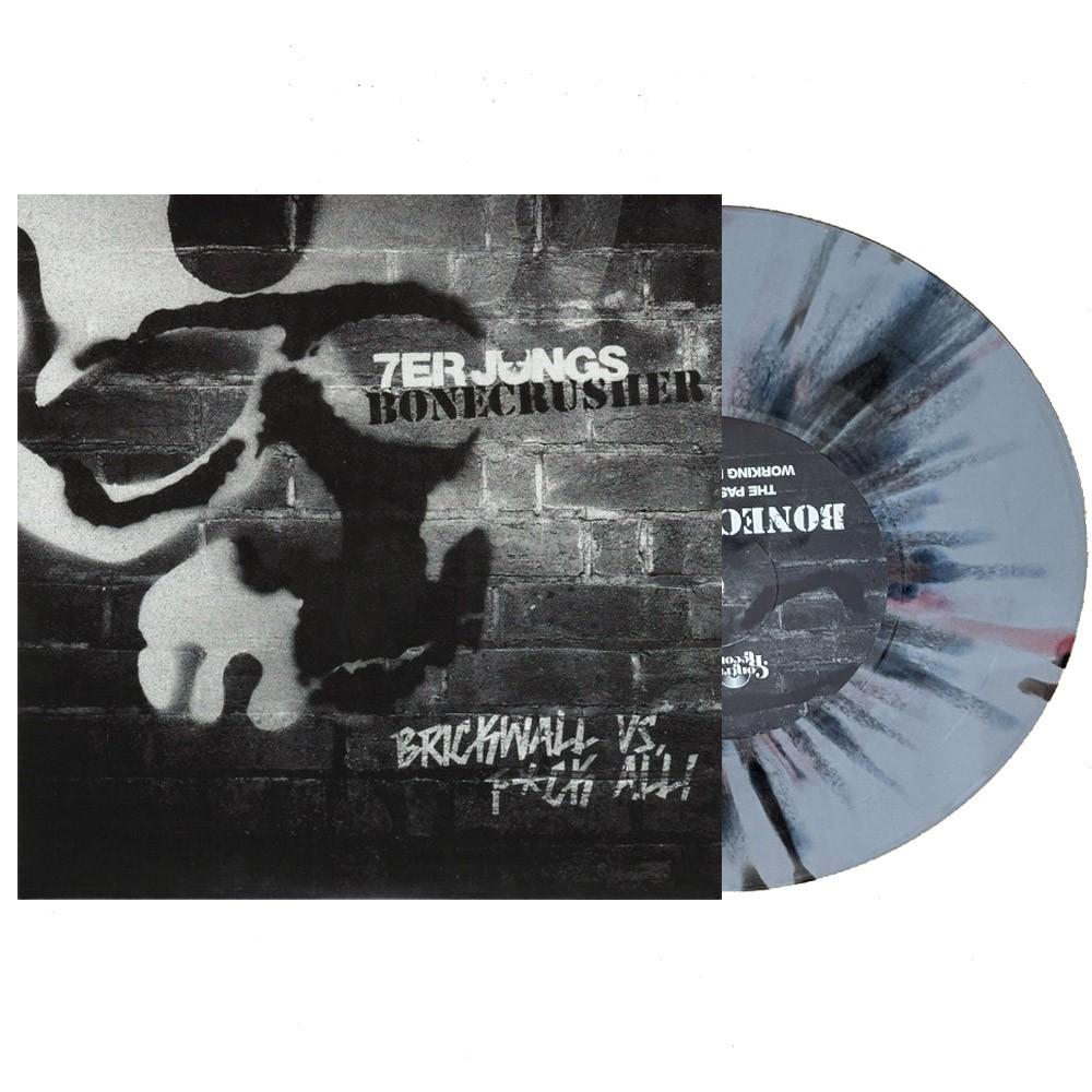 """V/A Bonecrusher/7er Jungs- Split 7""""EP lim.600 Grey/Ox-Splatter"""