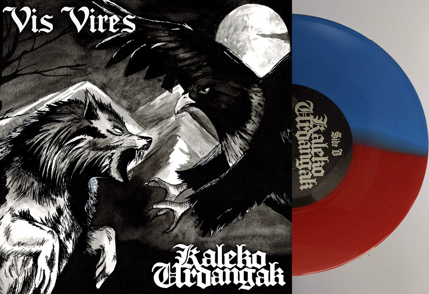 "V/A Vis Vires / Kaleko Urdangak - Split 7""EP lim.150 half n half"