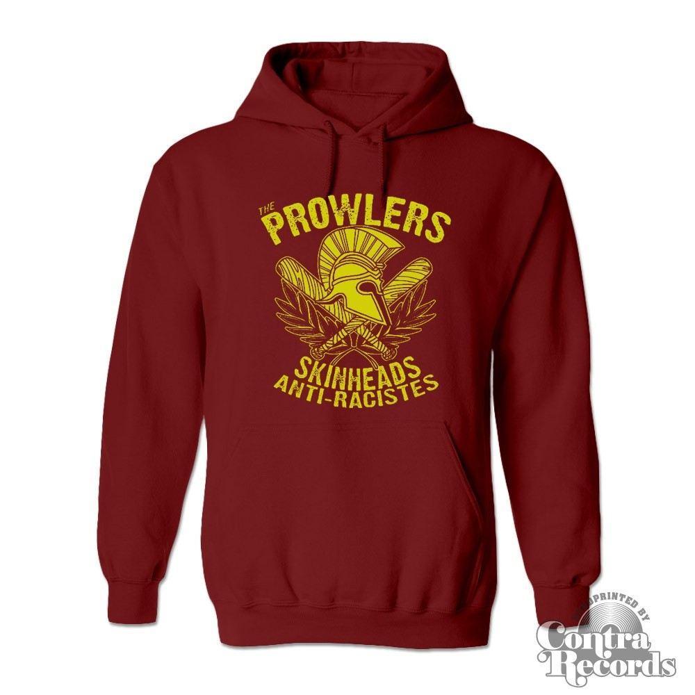 "Prowlers - ""Skinhead Anti-Racistes"" - Hoody oxblood red"