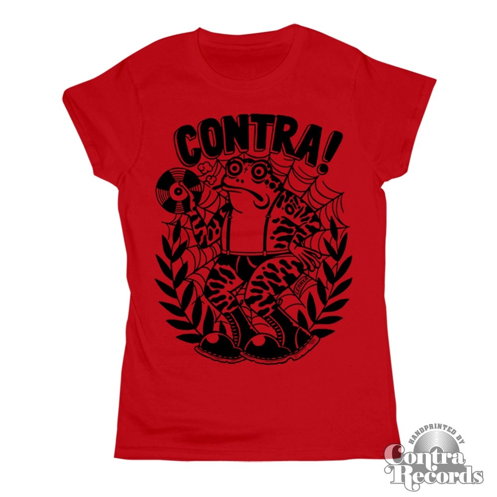 "Contra Records - ""Toad""Girl Shirt red lim. 15Years of Contra Edt."
