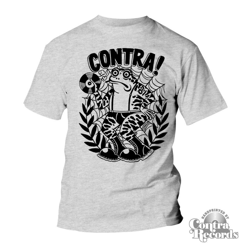 "Contra Records - ""Toad"" T-Shirt grey 15Years of Contra Edt."