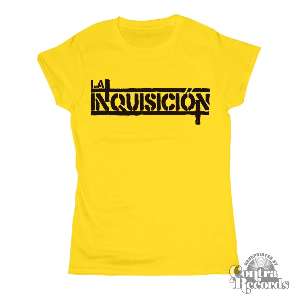 """LA INQUISICIÓN - """"logo"""" - Girl Shirt yelow"""