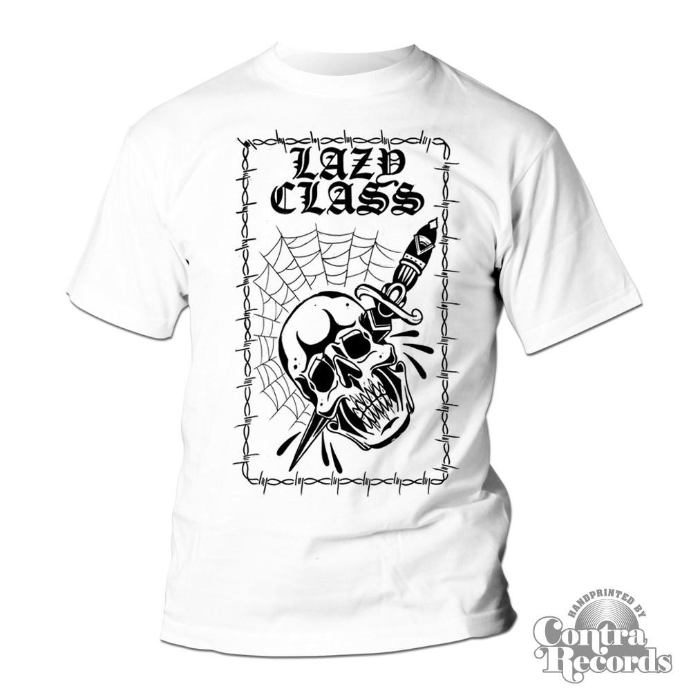 "Lazy Class - ""skull"" T-Shirt white"