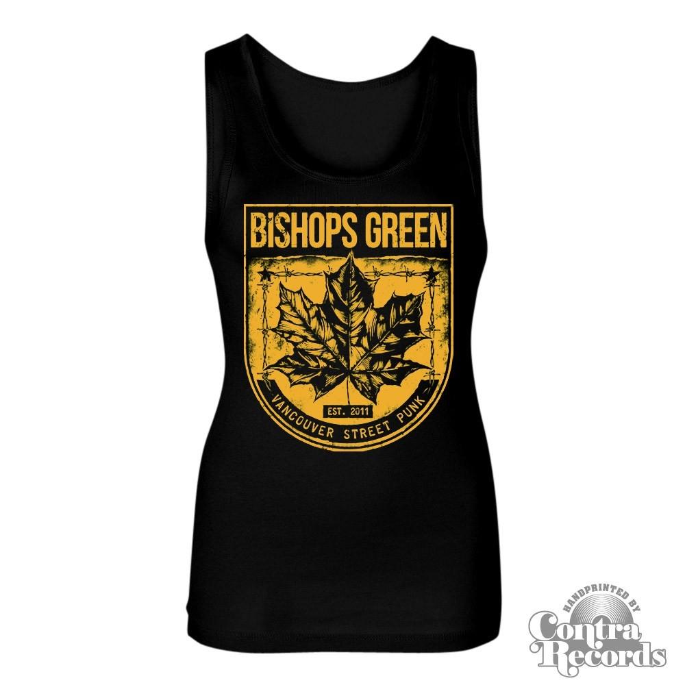 "Bishops Green - ""Leaf"" - Girl Tanktop black"