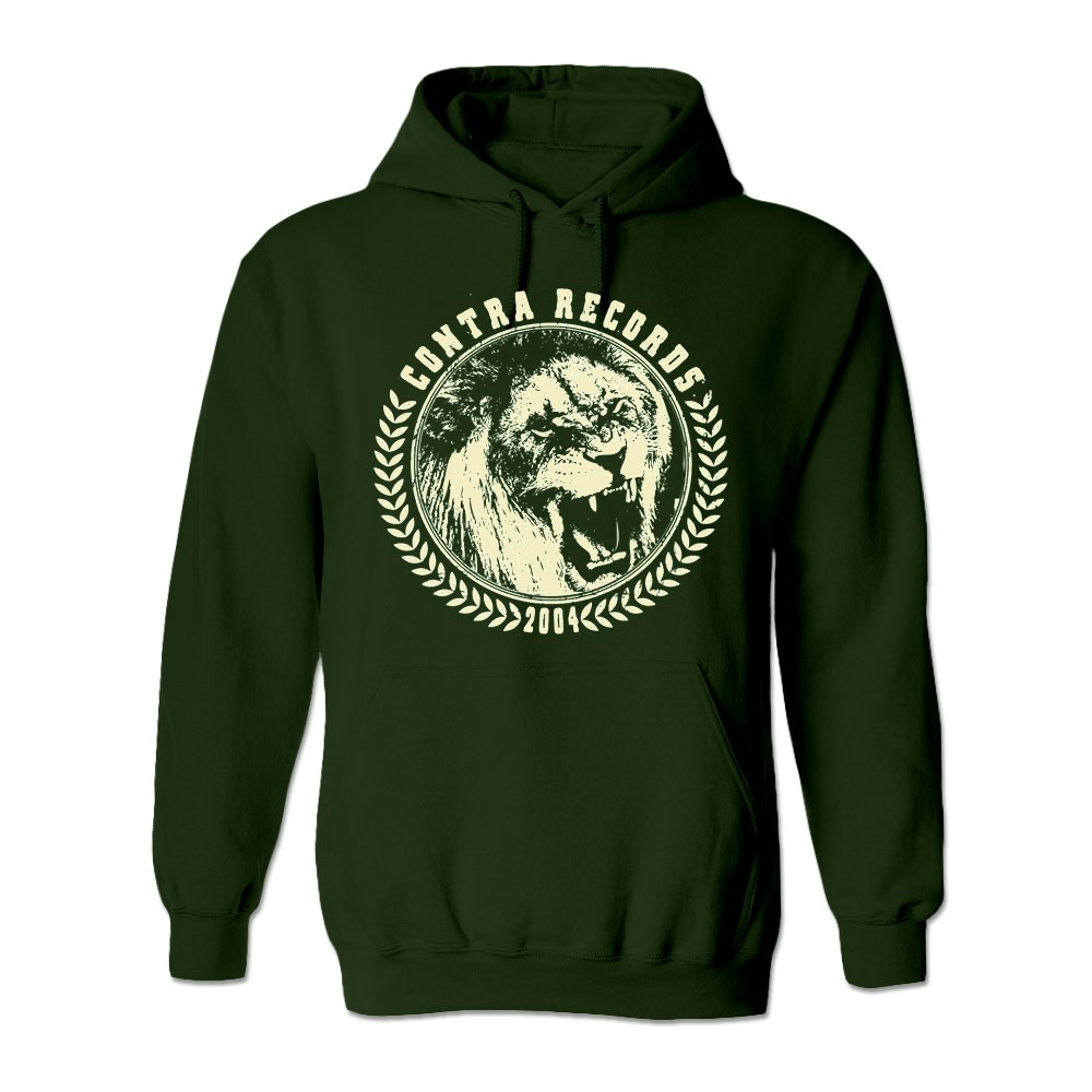 "Contra Records - ""Lion"" - Hoody dark green"