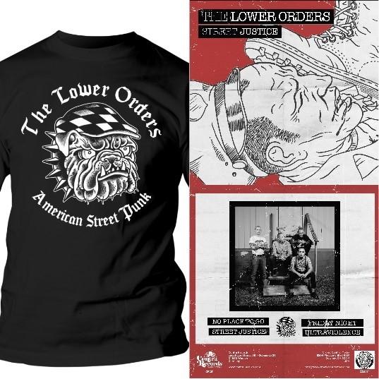 "Lower Orders - package deal# T-Shirt + Street Justice 7""EP splatter"