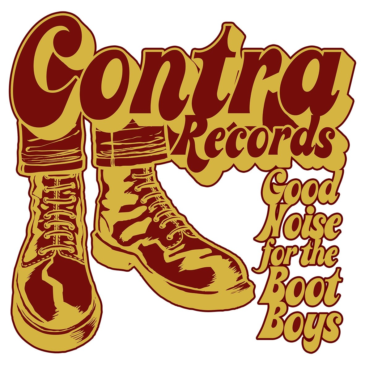 Contra Records - Bootboys - Sticker red/yellow