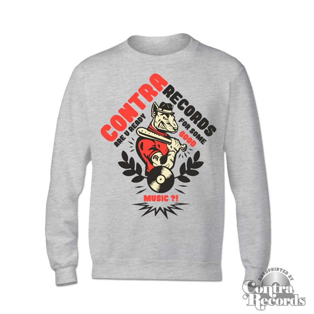 "Contra Records - ""Are You Ready"" - Crewneck Sweatshirt grey 15Years of Contra Edt."
