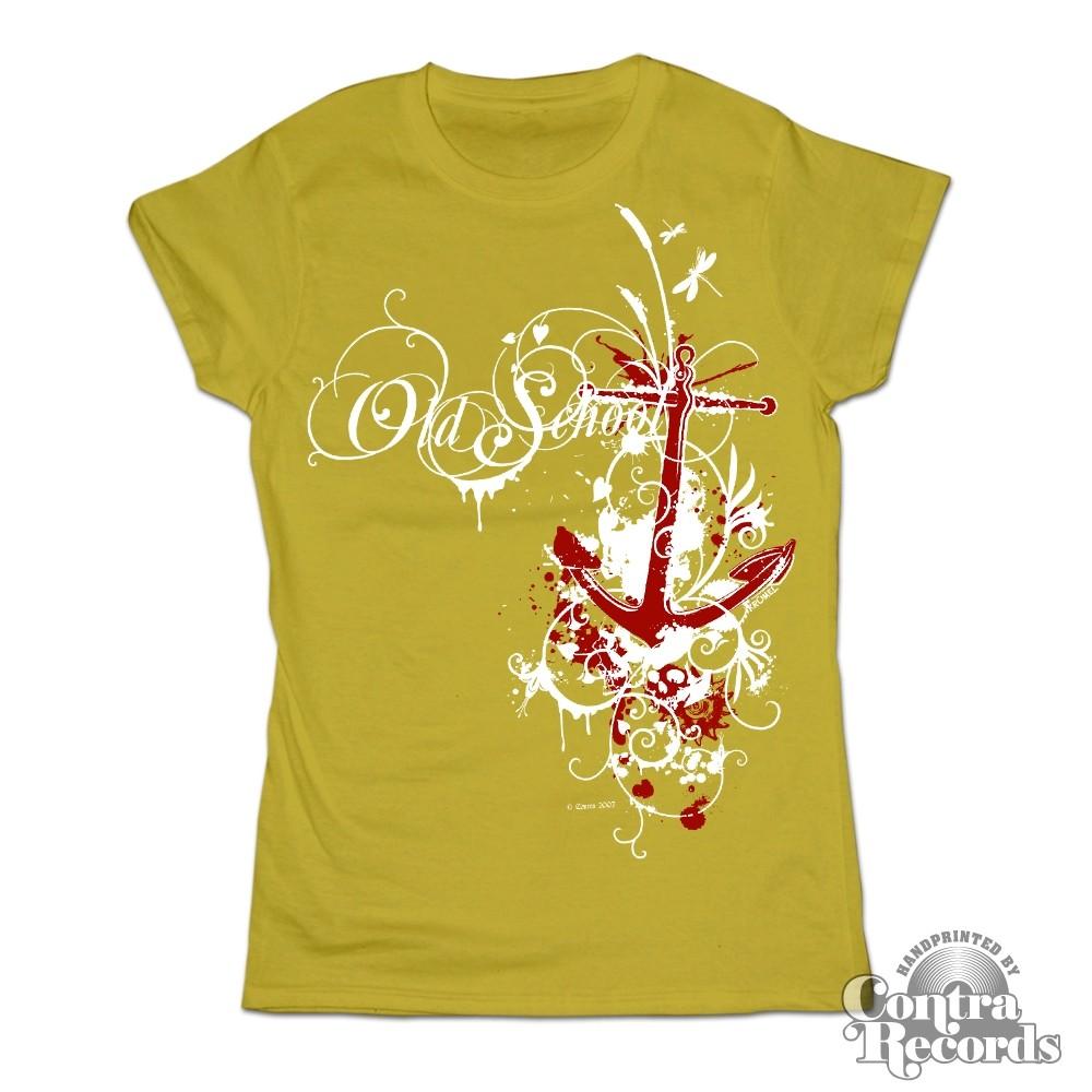 Old school anchor green - Girl Shirt-XS (last size!)