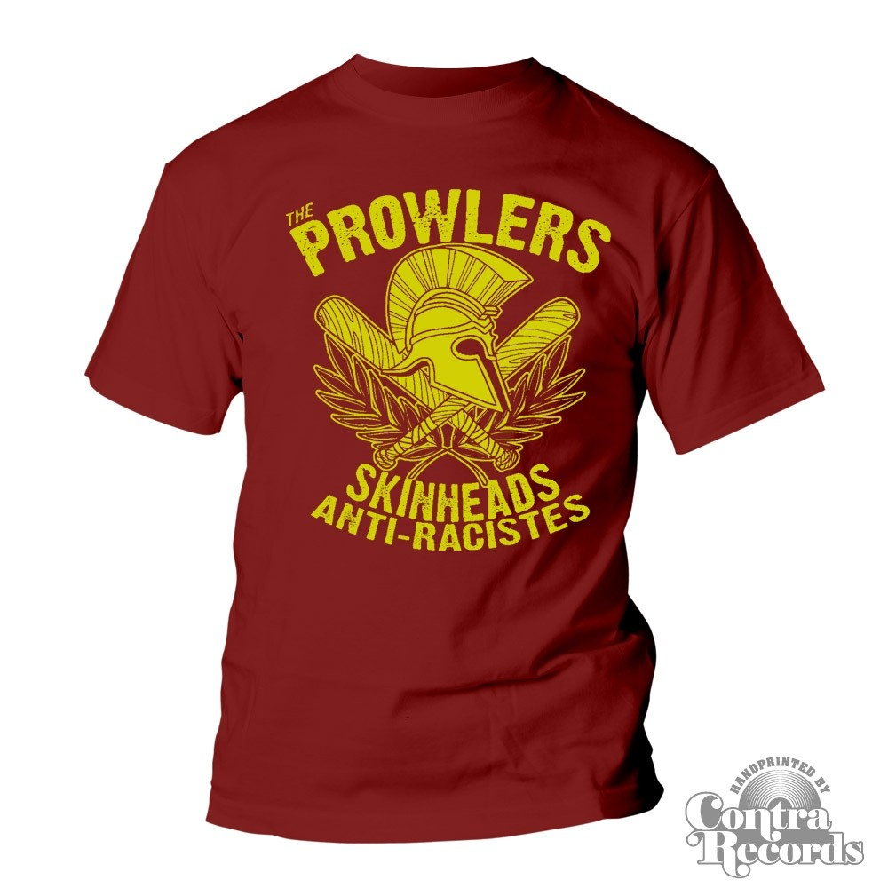 """Prowlers - """"Skinhead Anti-Racistes"""" T-Shirt oxblood red"""