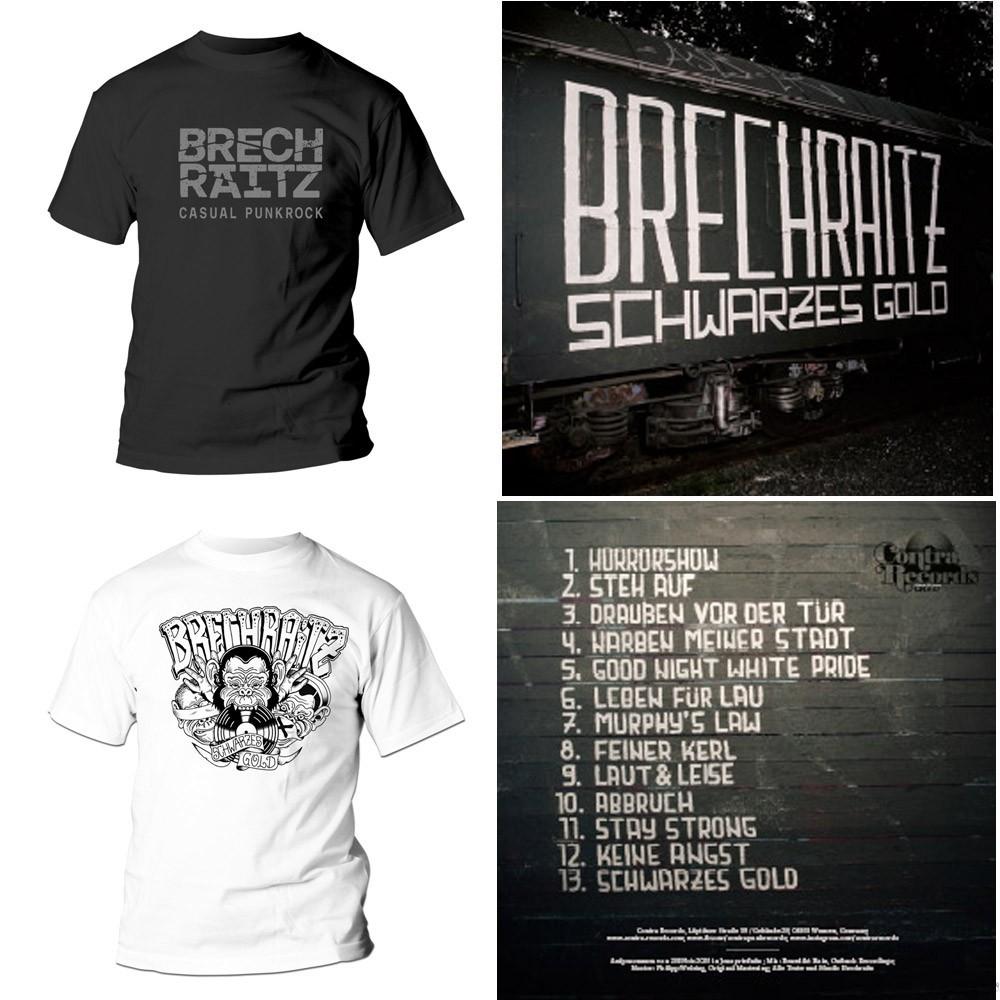 """Brechraitz - """"Schwarzes Gold"""" - #package deal CD+T-Shirt"""