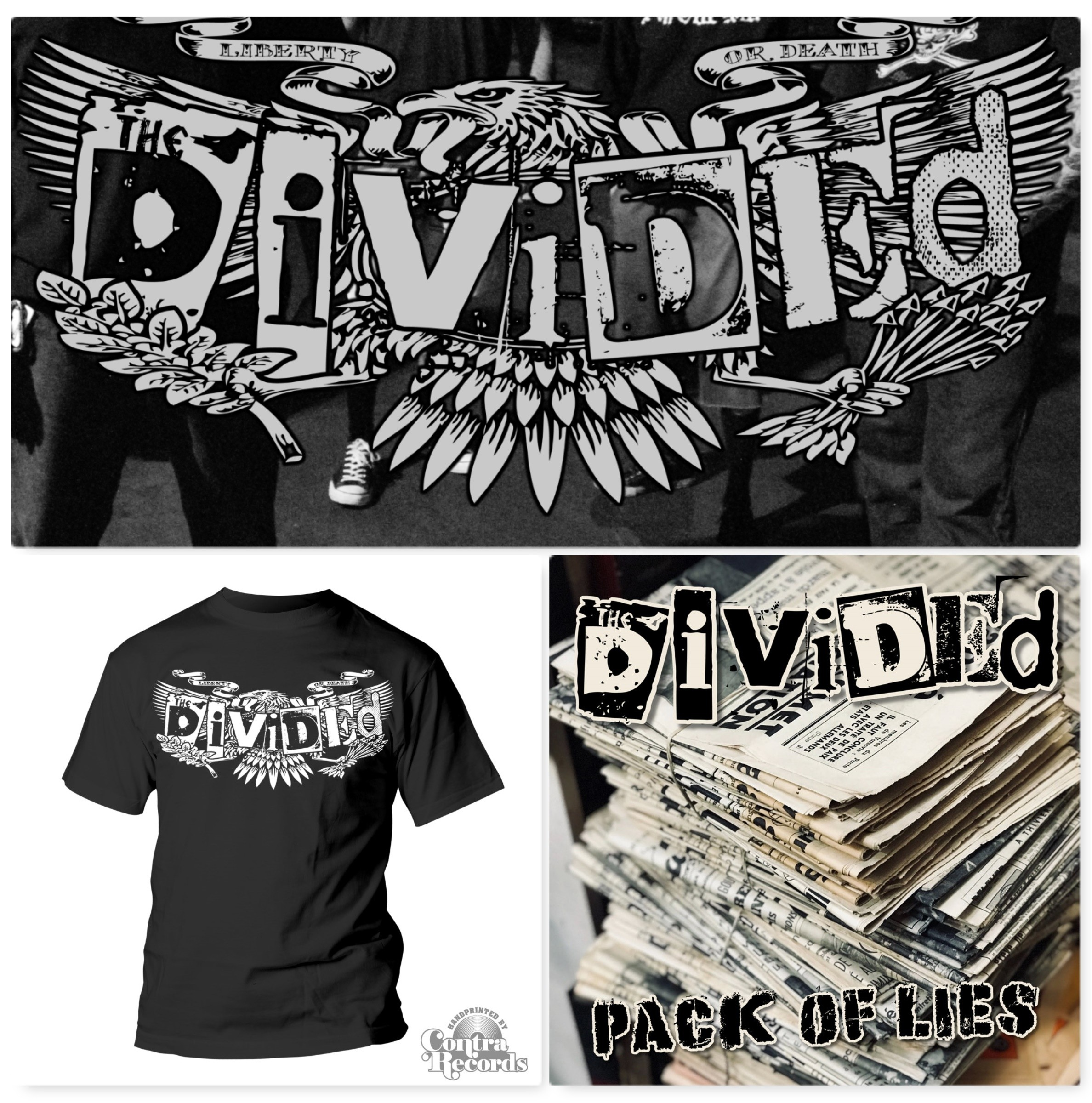 "Divided,The - ""Pack Of Lies"" #package deal 2x7""EP + T-Shirt"