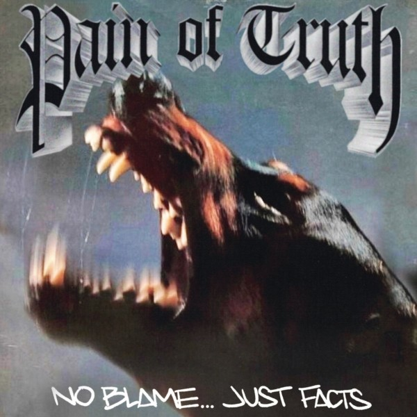 """Pain Of Truth - No Blame...Just Facts 12""""LP Single Sided lim.200 Grey with Black Marbled"""