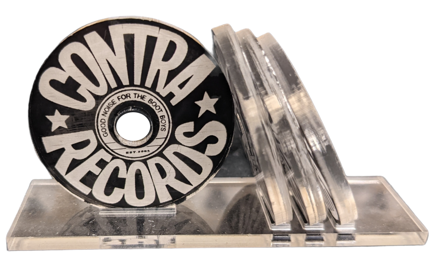 """Contra Records - """"Good Noise for the Bootboys 2018"""" - Single 45rpm Adapter clear/black"""