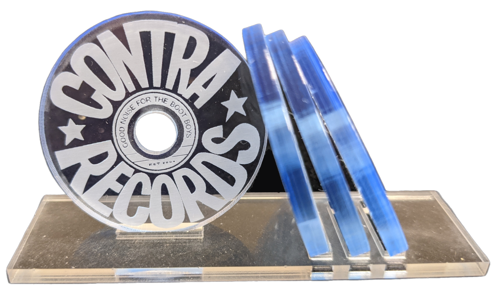 """Contra Records - """"Good Noise for the Bootboys 2018"""" - Single 45rpm Adapter ice blue"""