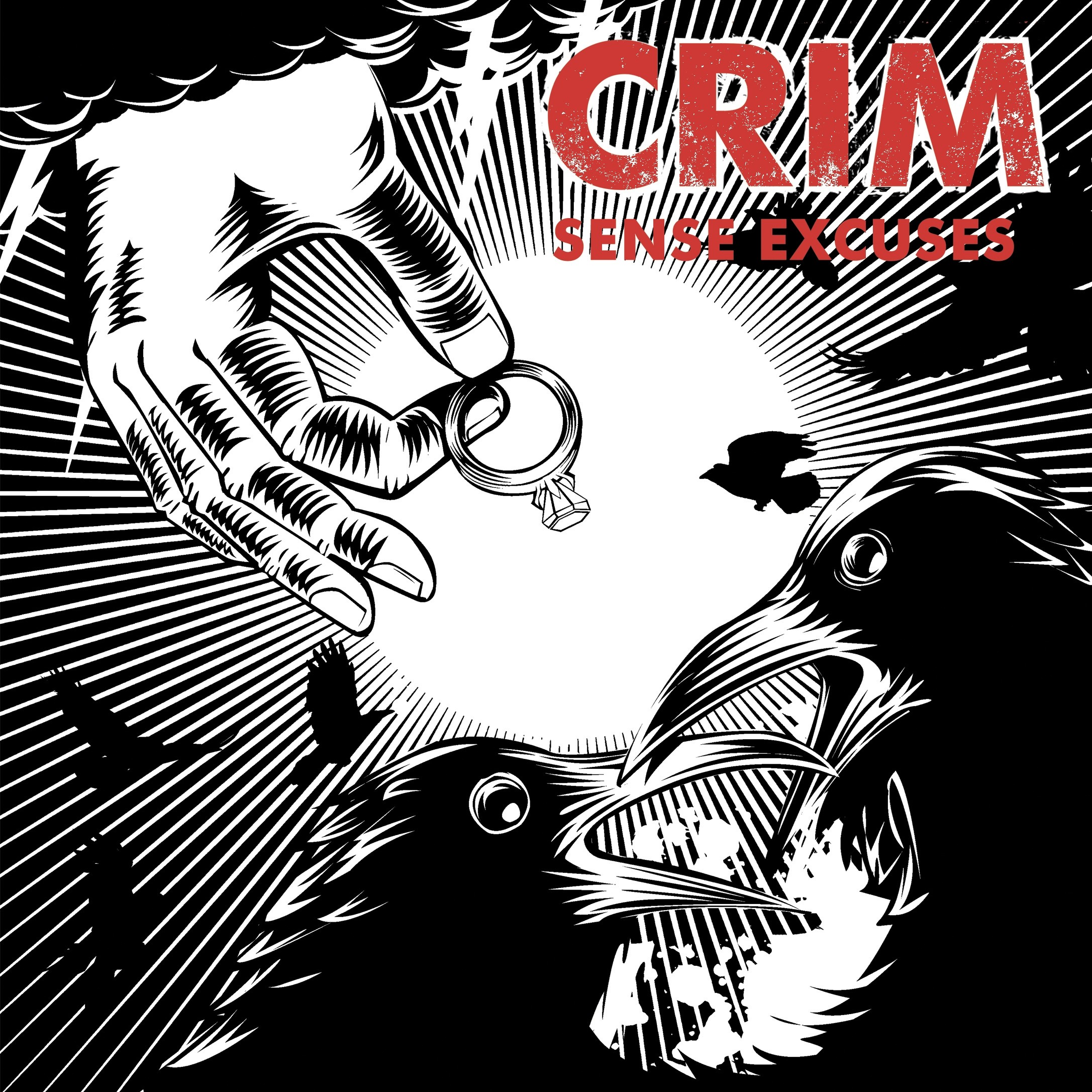 "CRIM - Sense excuses 7""EP lim. red/blk"