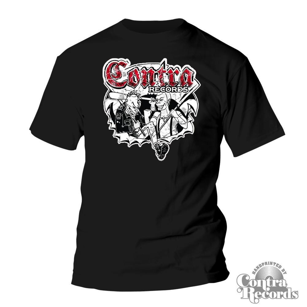 Contra Records - Punk & Skin - T-Shirt black
