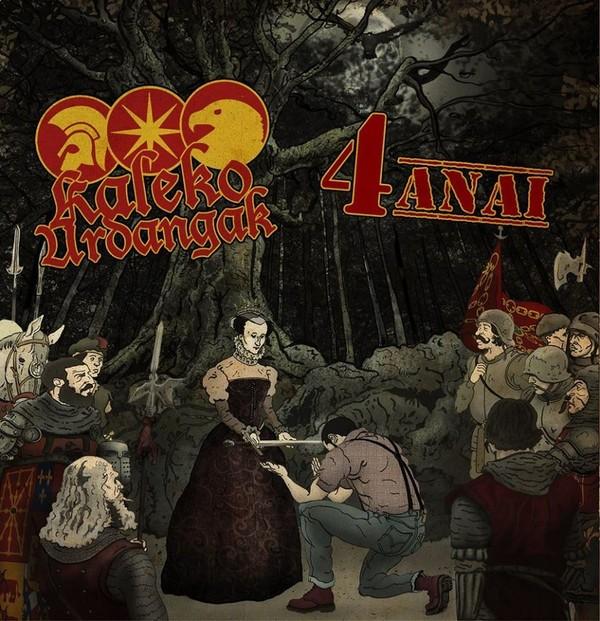"V/A - Kaleko Urdangak / 4 Anai - Split 12""LP lim.400 black"