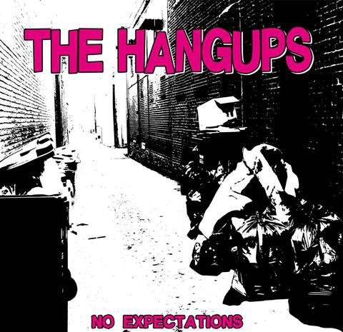 "HANGUPS, THE - NO EXPECTATIONS 7""EP lim.300 Black and Blue splatter"