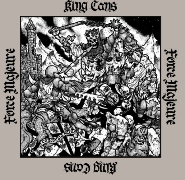 """V/A King Cans / Force Majeure split 12""""LP lim. 250 grey europe cover"""