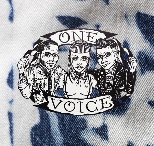 """One Voice - Skinhead For A Day 7""""EP lim. 150 on purple/white swirl"""