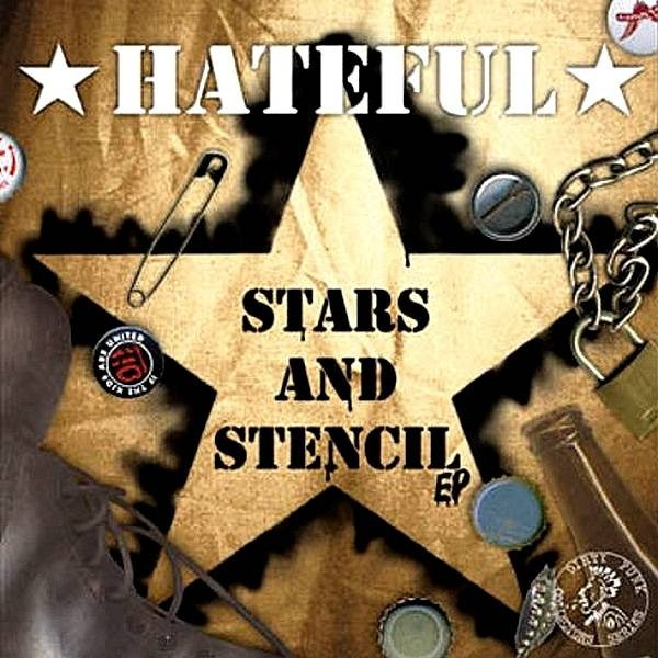 "Hateful - Stars And Stencil 7""EP lim. 500 brown/black"