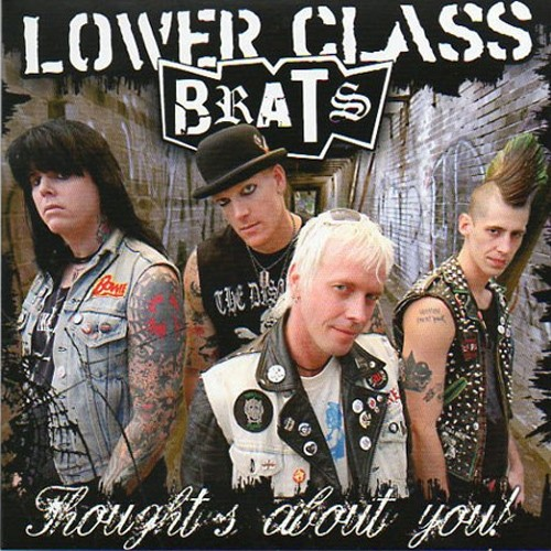 "Lower Class Brats ‎- Thoughts About You 7""EP lim. 500 black"