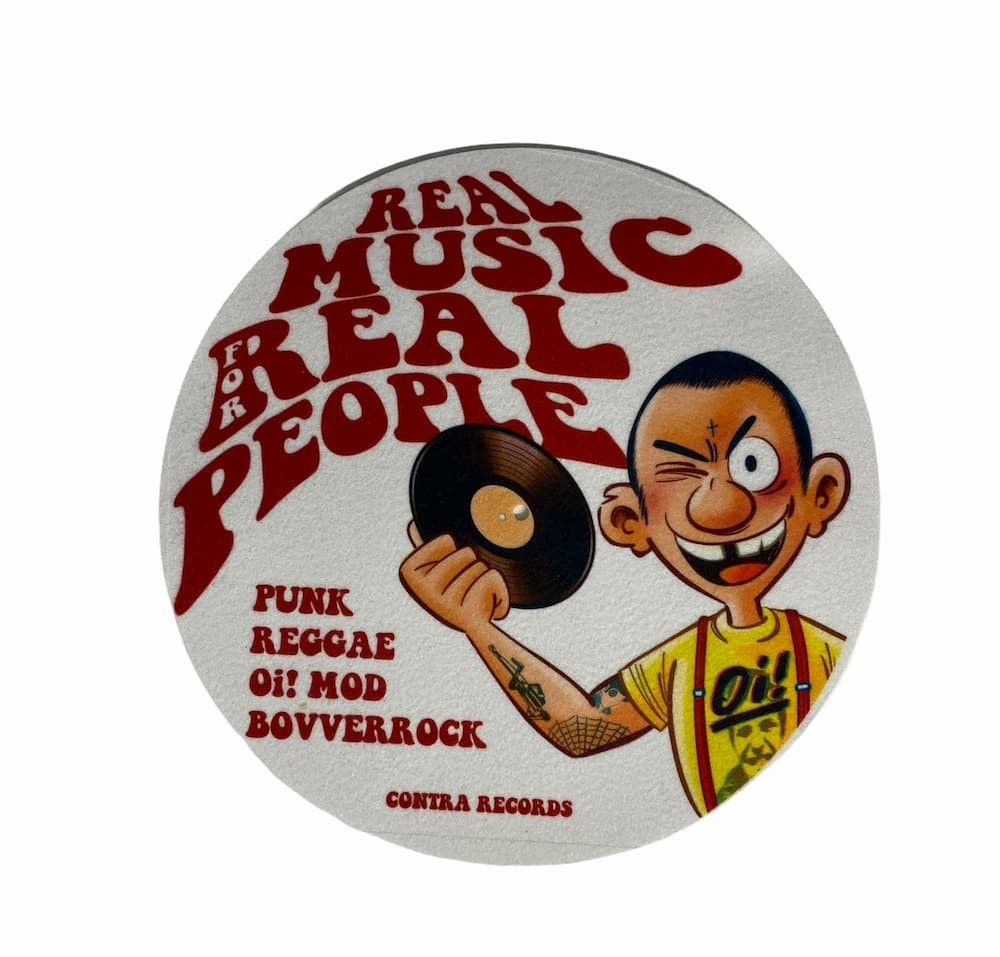 """Contra Records - Real Music... - 12"""" Slipmat"""