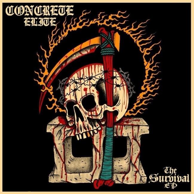 "Concrete Elite - The survival EP 12"" lim.350 bone"