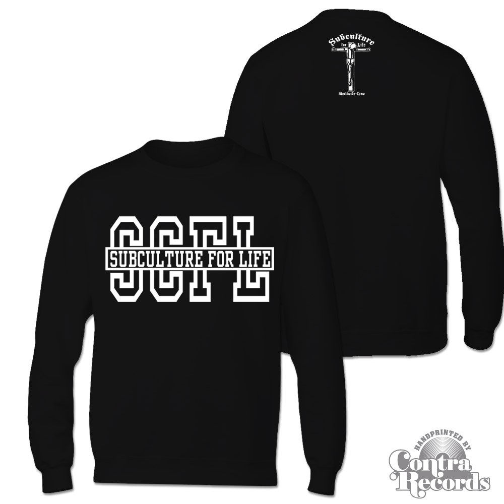 "Subculture for Life - ""SCFL"" Crewneck Sweatshirt black"