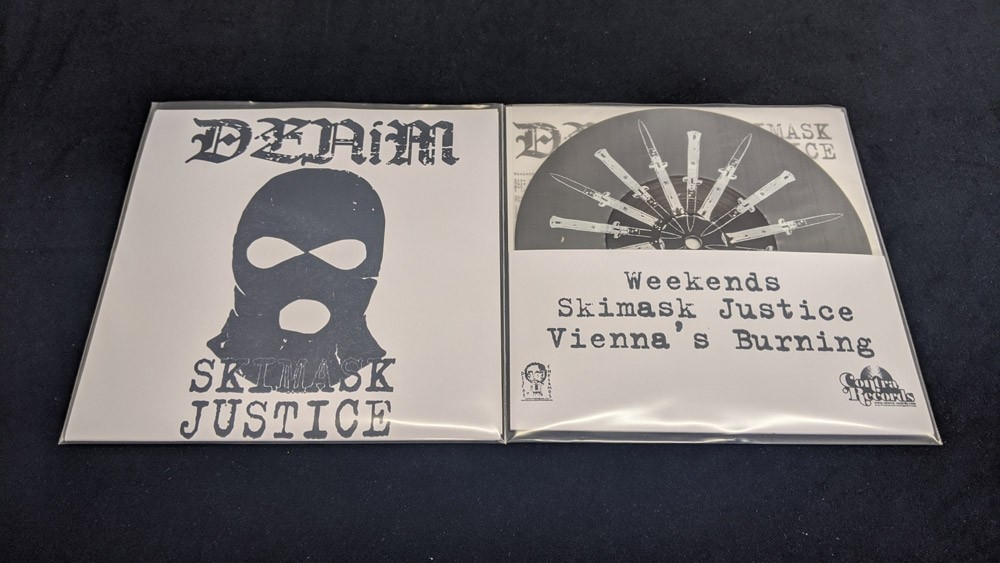 """Denim - Skimask Justice Demo 7""""EP with printed B-side lim.50 blk+ extra screen printed cover"""