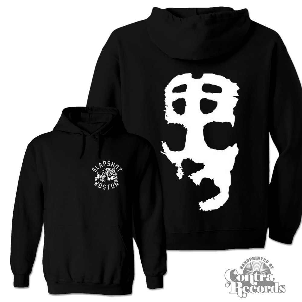 "Slapshot - ""Big Mask"" Hoody black front/backprint"