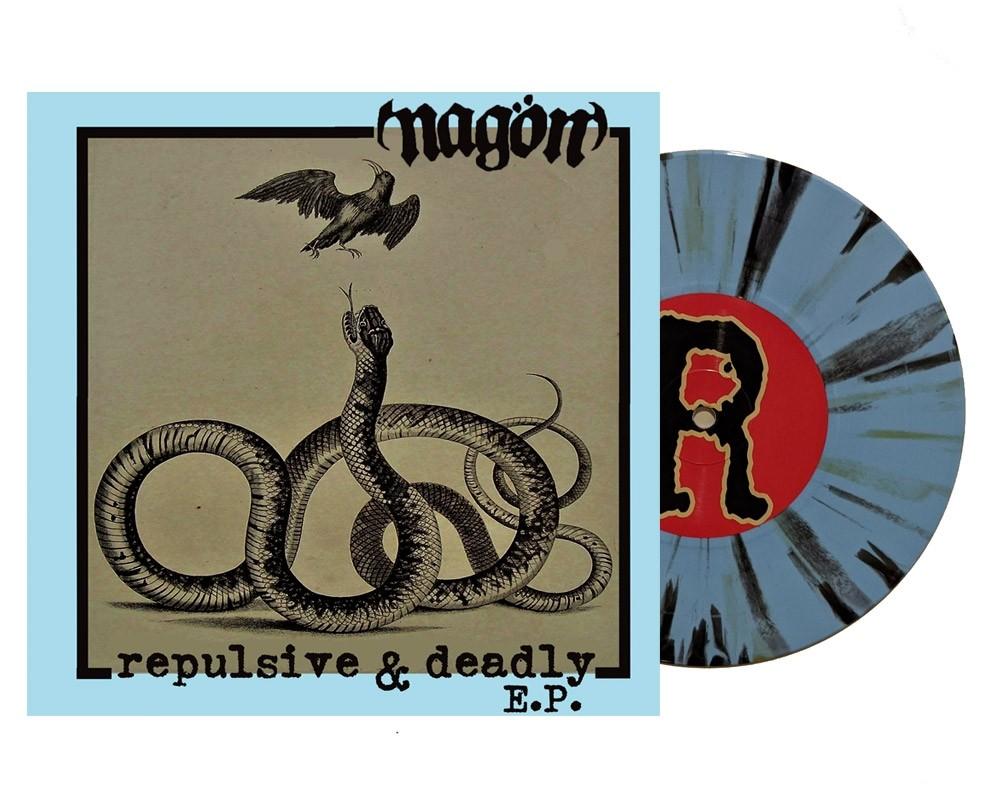"""Nagön - """"Repulsive & Deadly"""" 7""""EP lim.200 blue white black splatter"""