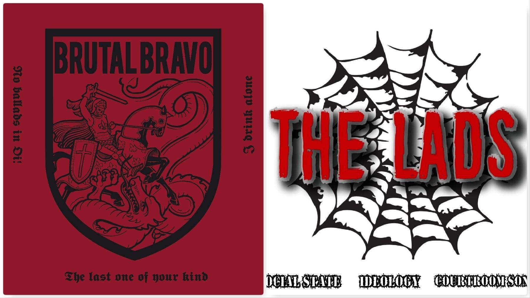 "V/A Brutal Bravo/ The Lads split 12""MLP lim.300 black"