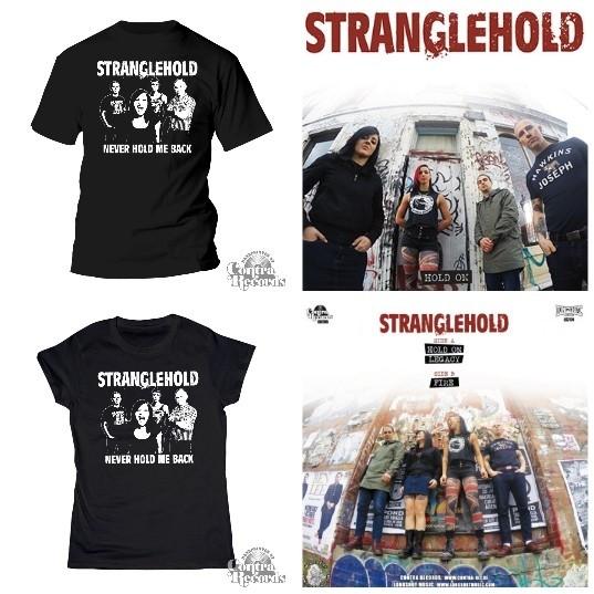 """Stranglehold - package # Hold On 7""""EP+T-Shirt/Girl shirt"""