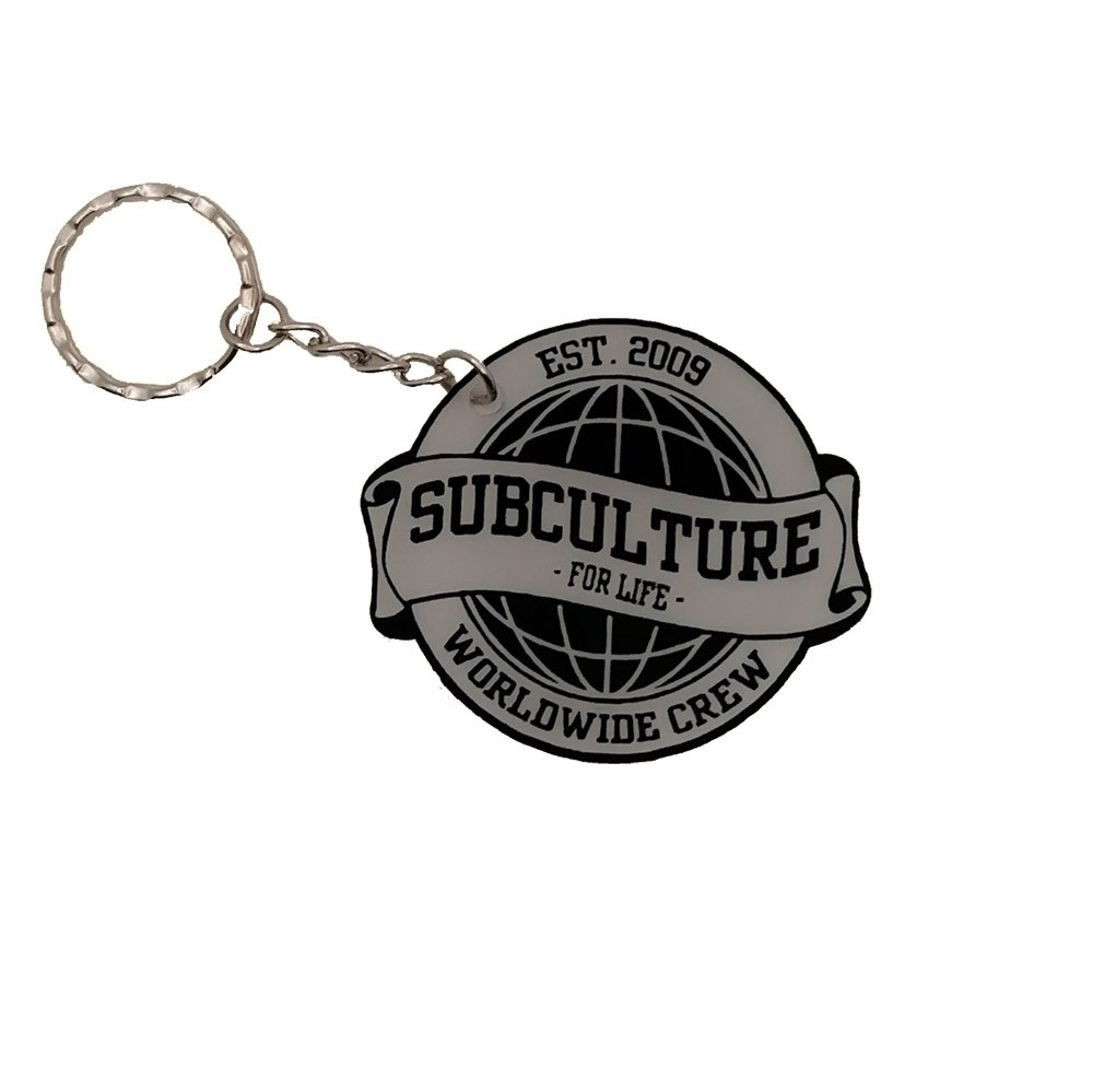 Subculture for Life - Worldwide Crew '09 - Keychain clear/black