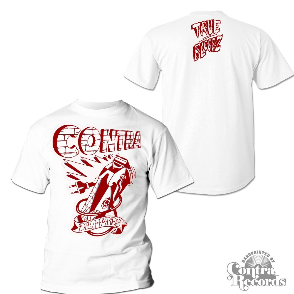 "Contra Records ""Die Hards"" T-Shirt white (15Years of Contra Edt.)"