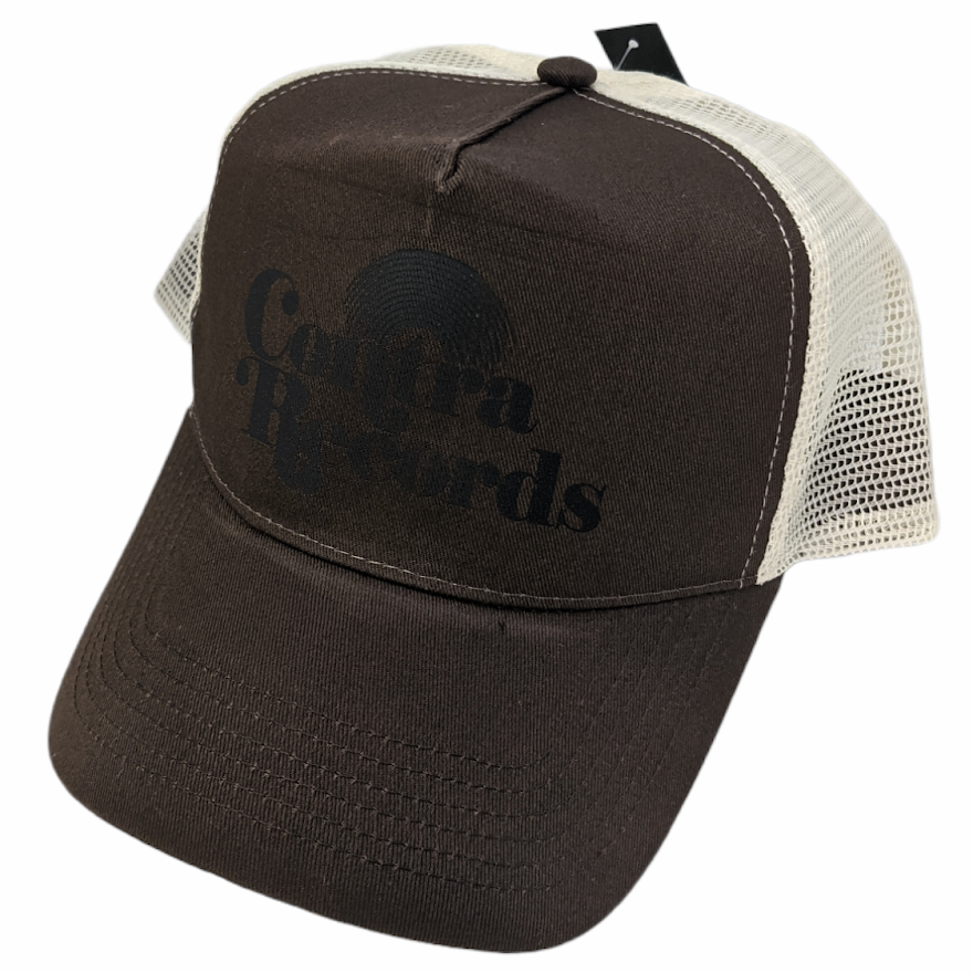 """Contra Records """"Vinyl"""" - Trucker Cap black on brown/beige"""
