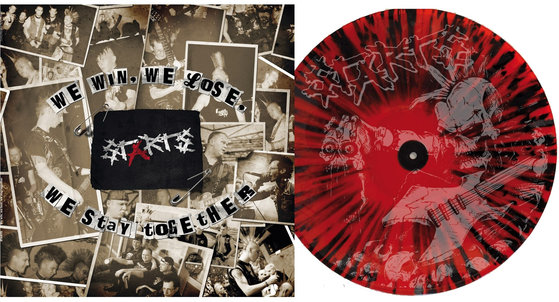 "Starts - ""We Win,We Lose,We Stay Together"" etched b-side 12""LP lim.200 splatter"
