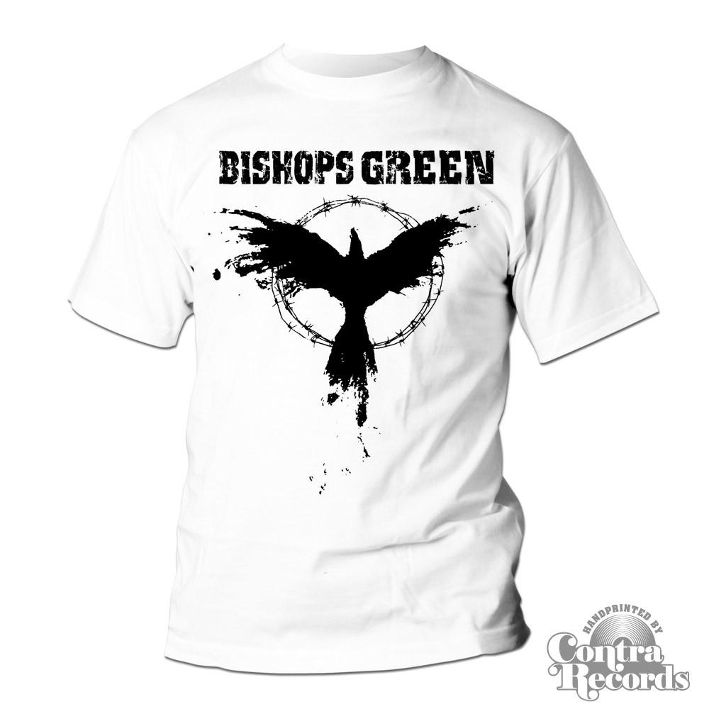 Bishops Green - Crow Punkrock T-Shirt white