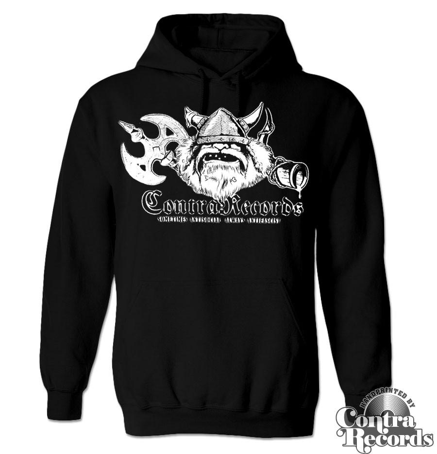 Contra Records - antisocial Viking - Hoody black