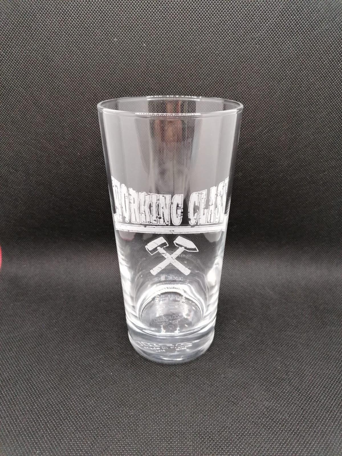 Working Class - Hammer - Drinking Glass