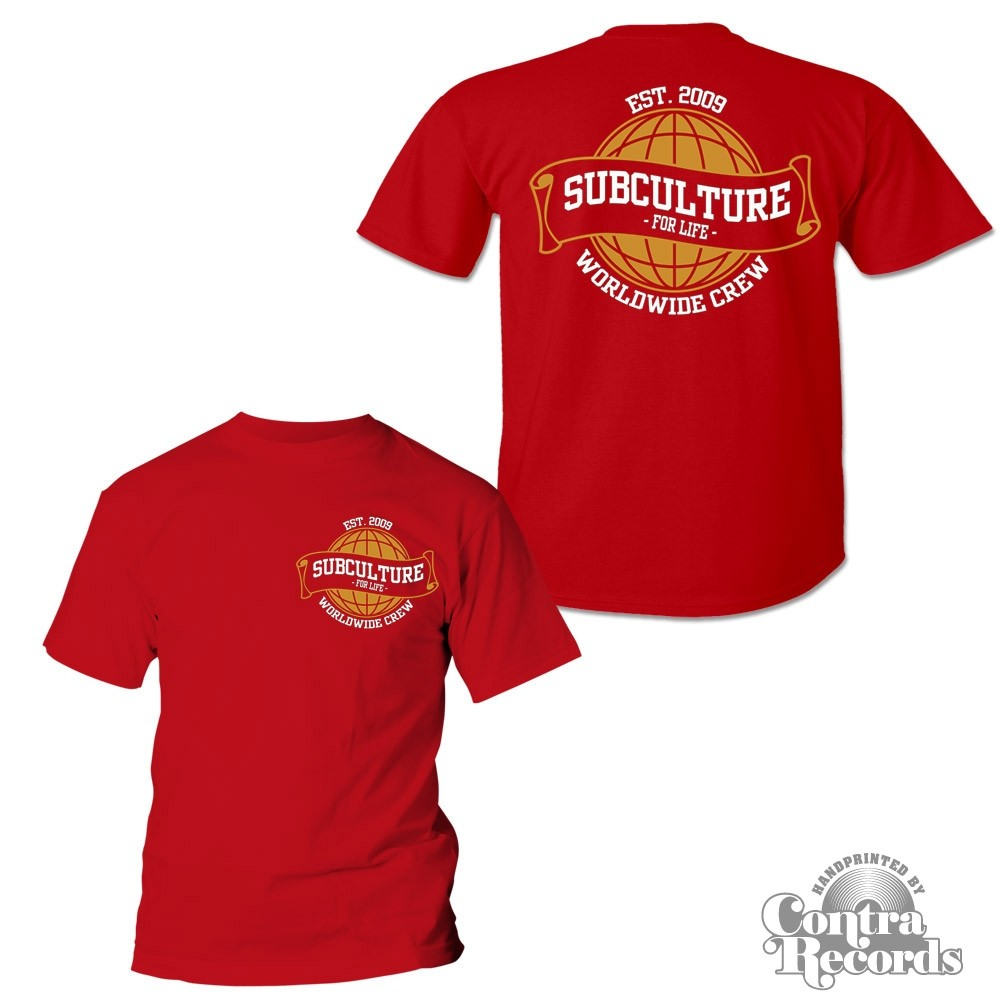 Subculture for Life - Worldwide Crew '09 - T-Shirt red front/backprint