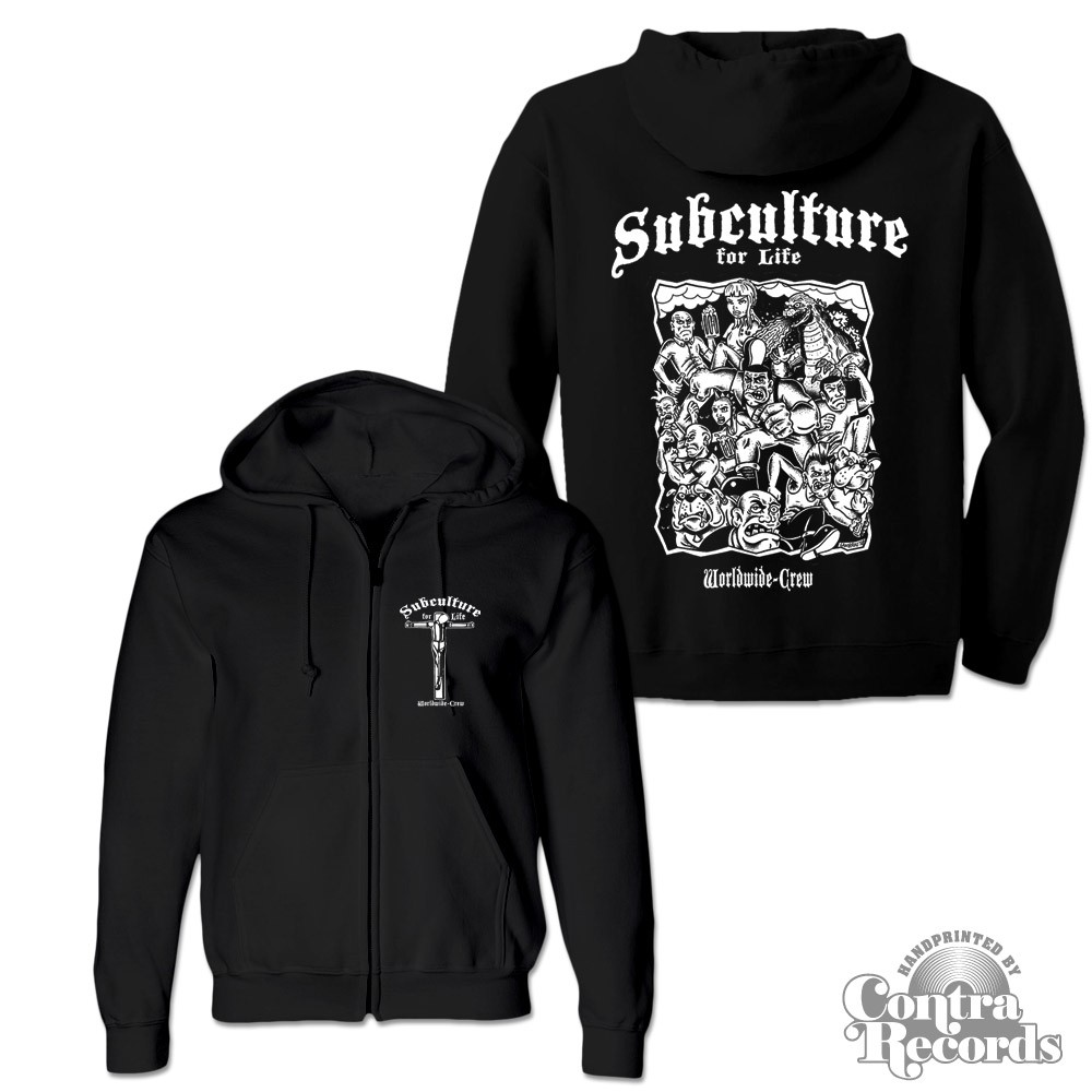 """Subculture for Life - """"Worldwide Crew"""" - Zip Hooded Jacket black"""