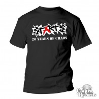 "Starts - ""20Years of Chaos"" T-Shirt black"