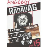 """Rabatt Paket - """"Radau AG"""" CD + LP + T-shirt"""